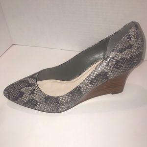 Cole Haan Lena Snake Print Wedge size 9